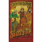 Custom Large Countrys Best State Fair Vintage Style Metal Sign