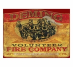 Custom Large Deming Fire Company Vintage Style Metal Sign