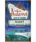 Custom Large Drive In Vintage Style Metal Sign