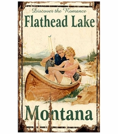 lake posters vintage Customizable