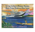 Custom Large Flying Clipper Vintage Style Metal Sign