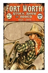 Custom Large Fort Worth Stock Show Vintage Style Metal Sign