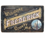 Custom Large Frederick County Maryland Vintage Style Metal Sign