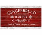 Custom Large Gingerbread Bakery Vintage Style Wooden Sign
