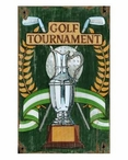 Custom Large Golf Tournament Trophy Vintage Style Metal Sign