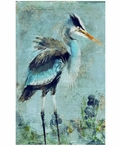 Custom Large Great Blue Heron Vintage Style Metal Sign