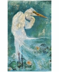 Custom Large Great Egret Vintage Style Metal Sign