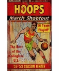 Custom Large Hoops March Shootout Vintage Style Metal Sign