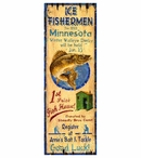 Custom Large Ice Fishing Vintage Style Metal Sign