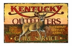 Custom Large Kentucky Outfitters Vintage Style Metal Sign