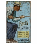 Custom Large Lake Bemidji Fishing Vintage Style Metal Sign