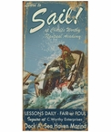 Custom Large Learn to Sail Lessons Vintage Style Metal Sign