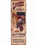 Custom Large Livery Stable Vintage Style Metal Sign
