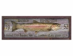 Custom Large Madison Fishing Club Trout Vintage Style Metal Sign