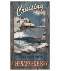 Custom Large Mear's Yacht Haven Boating Vintage Style Metal Sign
