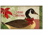 Custom Large Merry Christmas Goose Vintage Style Wooden Sign