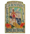 Custom Large Mid Pacific Carnival Vintage Style Metal Sign