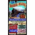 Large Nashua Racer Special Express Trains Vintage Style Metal Sign
