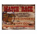 Custom Large Newly Texas Match Race Vintage Style Metal Sign
