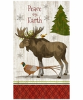 Custom Large Peace Christmas Moose Vintage Style Wooden Sign