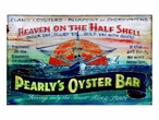 Custom Large Pearlys Oyster Bar Vintage Style Metal Sign