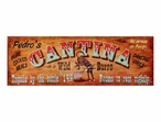 Custom Large Pedros Cantina Vintage Style Metal Sign