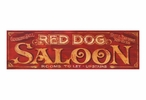 Custom Large Red Dog Saloon Vintage Style Metal Sign