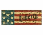 Custom Large Red White & Blue Liberty Flag Vintage Style Metal Sign