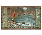 Custom Large Rock Creek Lodge Fishing Vintage Style Metal Sign