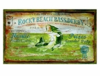 Custom Large Rocky Beach Bass Derby Vintage Style Metal Sign