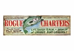 Custom Large Rogue Charters Vintage Style Metal Sign