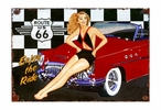 Custom Large Route 66 Vintage Style Metal Sign