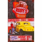 Custom Large Rubys Drive In Vintage Style Metal Sign