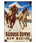 Custom Large Ruidoso Downs Horse Racing Vintage Style Wooden Sign