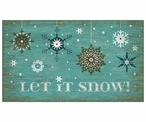 Custom Large Snowflakes Let It Snow Vintage Style Wooden Sign