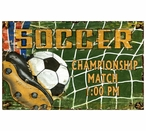 Custom Large Soccer Vintage Style Metal Sign