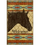 Custom Large Southwestern Welcome Horse Vintage Style Metal Sign