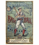 Custom Large Spalding's Baseball Guide Vintage Style Metal Sign