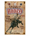 Custom Large Spangle Rodeo Vintage Style Metal Sign