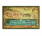 Custom Large Stanley Harkers Fly Shop Vintage Style Metal Sign