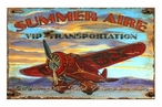 Custom Large Summer Aire Airplane Vintage Style Metal Sign