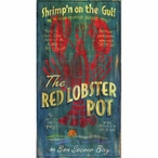 Custom Large The Red Lobster Pot Vintage Style Metal Sign