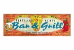 Custom Large Tortilla Flats Bar & Grill Vintage Style Metal Sign