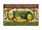 Custom Large Tractor Vintage Style Metal Sign