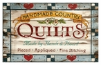 Custom Large Vintage Town Quilts Vintage Style Metal Sign