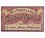 Custom Large Westmoreland Grocery Company Vintage Style Metal Sign