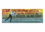 Custom Large Winter Sports in the Dunes Vintage Style Metal Sign