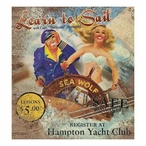 Custom Learn to Sail Vintage Style Metal Sign