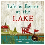 Custom Life is Better at the Lake Vintage Style Metal Sign