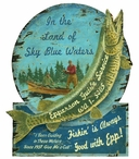 Custom Muskie Epperson Guide Service Vintage Style Metal Sign